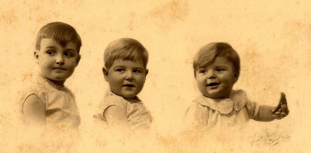 1931 - Au Vésinet (78) - Claude (4412) - Bernard (4413) - Jean-Marie (4414)