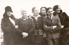 1934 - Au Havre - Mathilde FERLAND-LANDRIEU (x 12) - Louise (41) - Mathilde LANDRIEU-PORCHER (23) - ? - René (444) - Mme COMETTANT (amie)