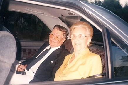 1990 - Philippe LANDRIEU (261) et son épouse Laure MATHIEU - Leur 80ème anniversaire