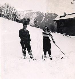 """Janvier 1951 à Morzine - Piste de """"La Sauvageonne"""""""
