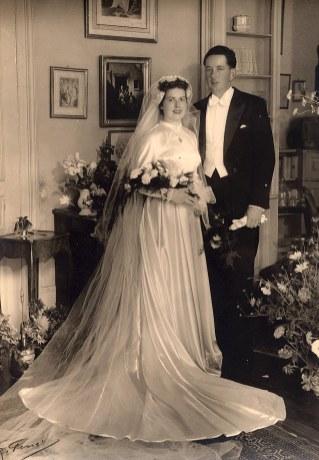 l6 Septembre 1953 - Mariage de Nicole LANDRIEU et de Bernard de LAMARLIERE