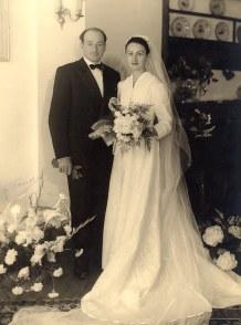 1954 - Mariage de Bernard LANDRIEU (1711) et de Françoise MAILLET