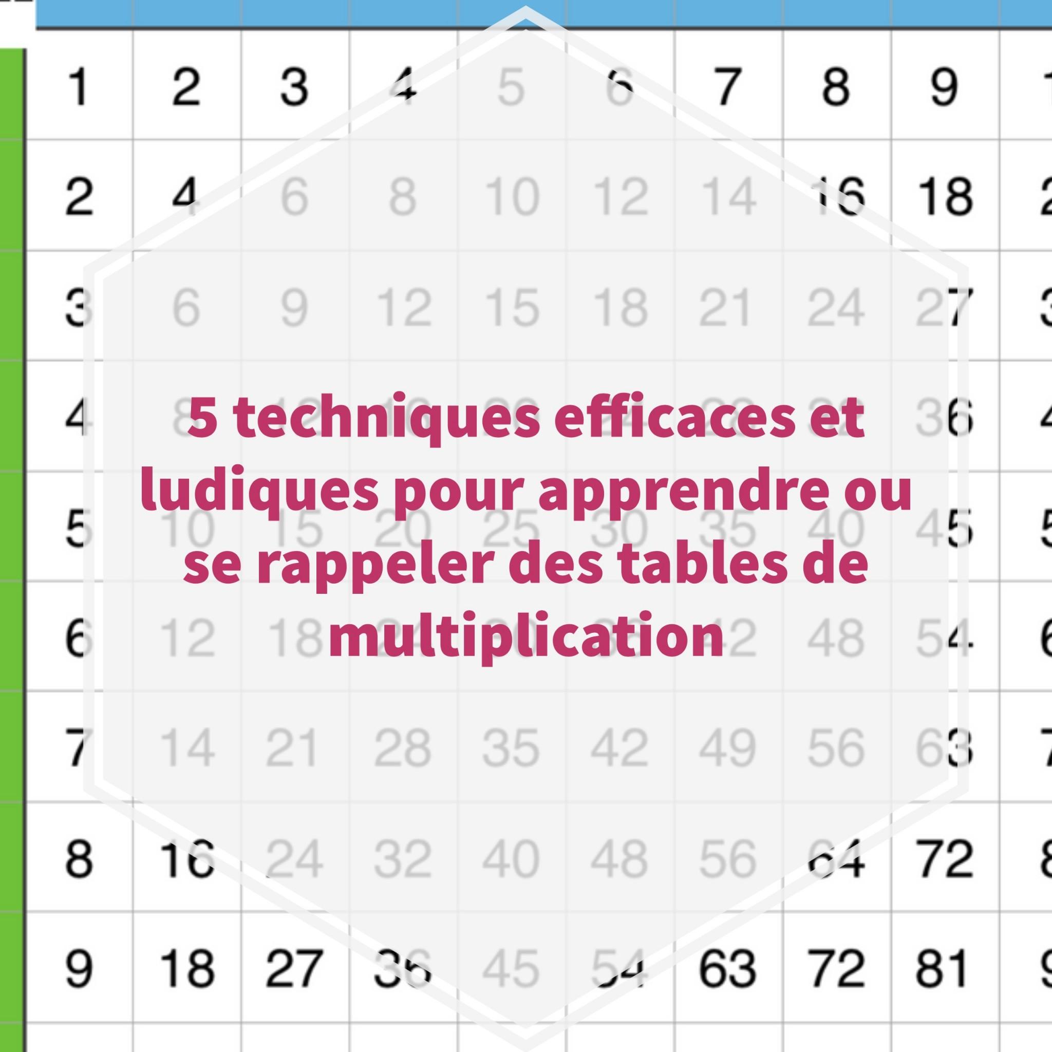se rappeler des tables de multiplication
