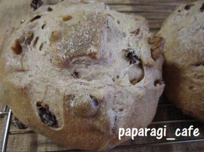 レーズンと胡桃の田舎パン2013-5