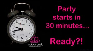 the Paparazzi jewelry party starts in 30 minutes