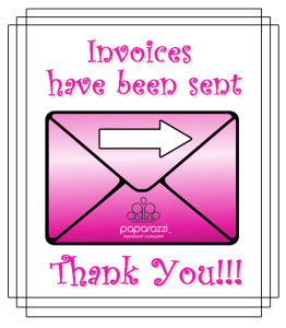 invoices sent - thank you - Paparazzi jewelry image