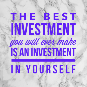 Invest in yourself quote image