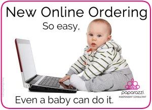 Online Ordering -so easy a baby could do it