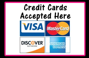 credit cards accepted here