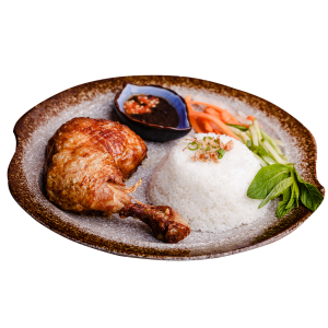 crispy chicken with rice