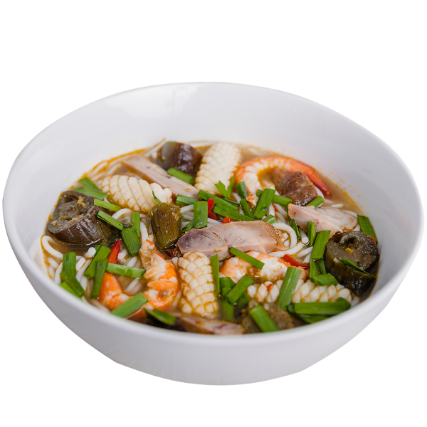 Rice Vermicelli Soup with Fermented Fish and Seafood