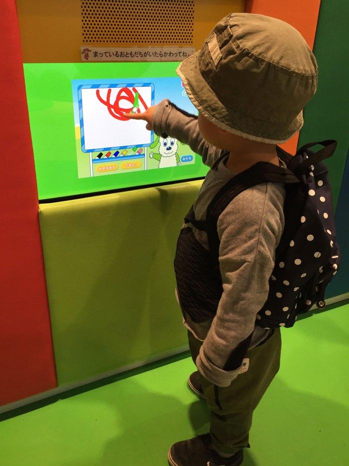 タッチパネル(NHKスタジオパーク)