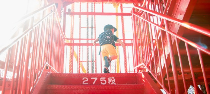 東京タワーを階段で登ったよ! 鼓太郎3歳