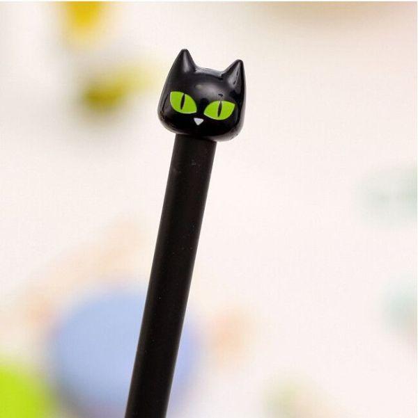 Bolígrafo punta fina gato negro