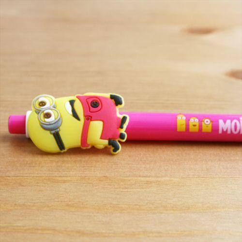 Bolígrafo Minion rosa fuerte