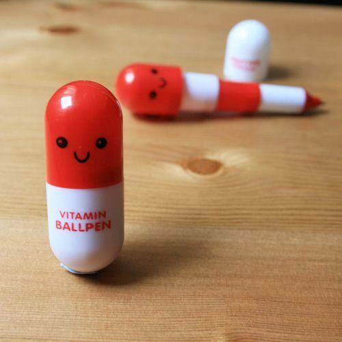 Bolígrafo vitaminado rojo