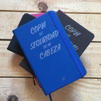 Cuaderno de notas azul
