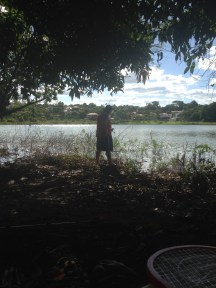 O pai pescando