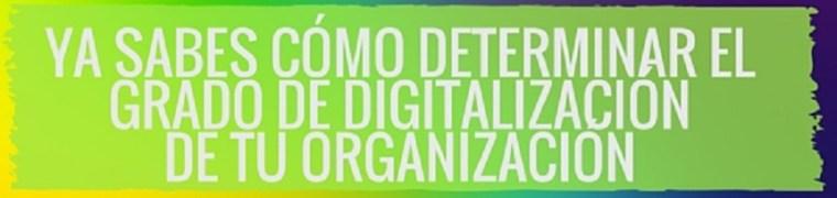 Ya sabes cómo determinar el grado de digitalización de tu organización