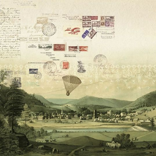 p2 papelpintadoJO1002 1 1 - Mural Stamps del catálogo Journeys de Tres tintas