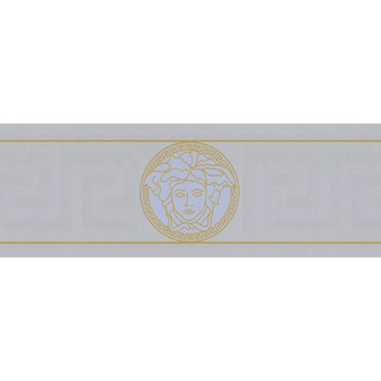 935225 resize - Cenefa Versace color plata con detalles en oro Ref. 93522-5