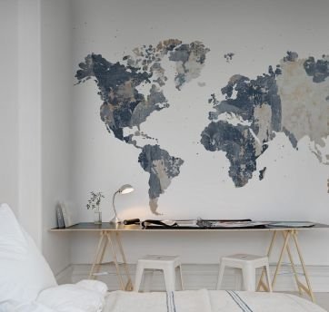 MURAL REBEL YOUR OWN WORLD BATTERED WALL REF. R13924