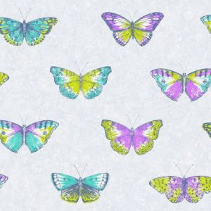 Papel pintado mariposas multicolor SRE68215364