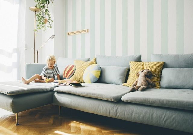 Paredes pintadas a rayas verticales best paredes pintadas - Paredes a rayas verticales ...