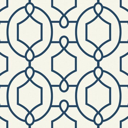 Papel pintado enrejado trellis ornamental ref. YC61112