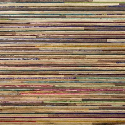 Papel pintado Omexco Bakbak con seda colores fondo canela ref. RAA102
