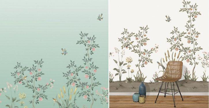 Papel decorativo de flores Chinella
