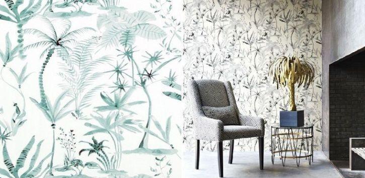 Papel de pared con palmeras