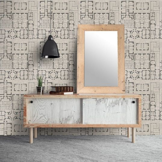 Mind the gap WP20024 - Chateau Taupe ambiente