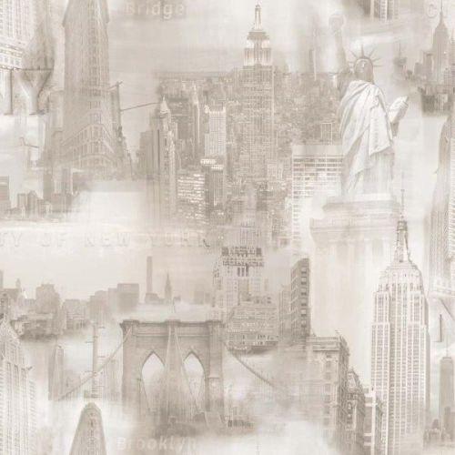 Papel pintado New york gris claro ref. 2723