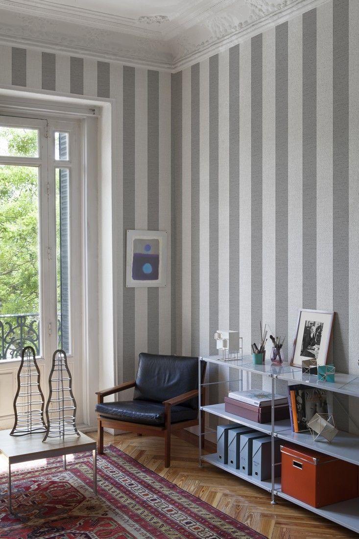 Papel pintado rayas alfred beige 6600051 del catalogo core for Papel pintado rayas verticales catalogo