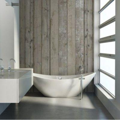 madera - Papel pintado en el baño: Consejos infalibles para su colocación