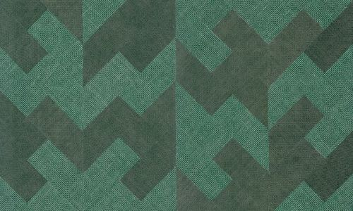 Papel pintado tejido de yute verde 46503 de Arte