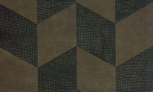 Papel pintado de yute con brillo marron 46600 de Arte