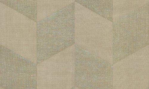 Papel pintado marrón de yute con brillo 46601 Arte