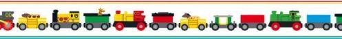 Cenefa de trenes de juguete Brio Trains 6281 (designers scandinavian mini)