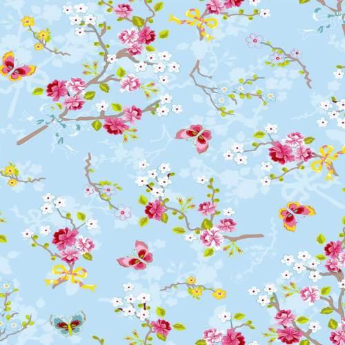 Papel azul de flores 375071