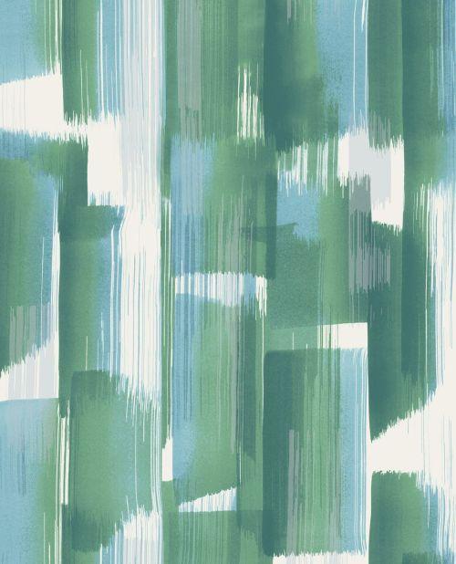 Vinilo para pared de rayas oroginales en color verde