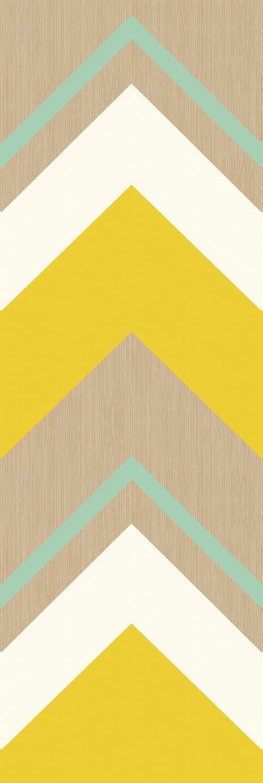 2 paneles de rayas anchas en zigzag