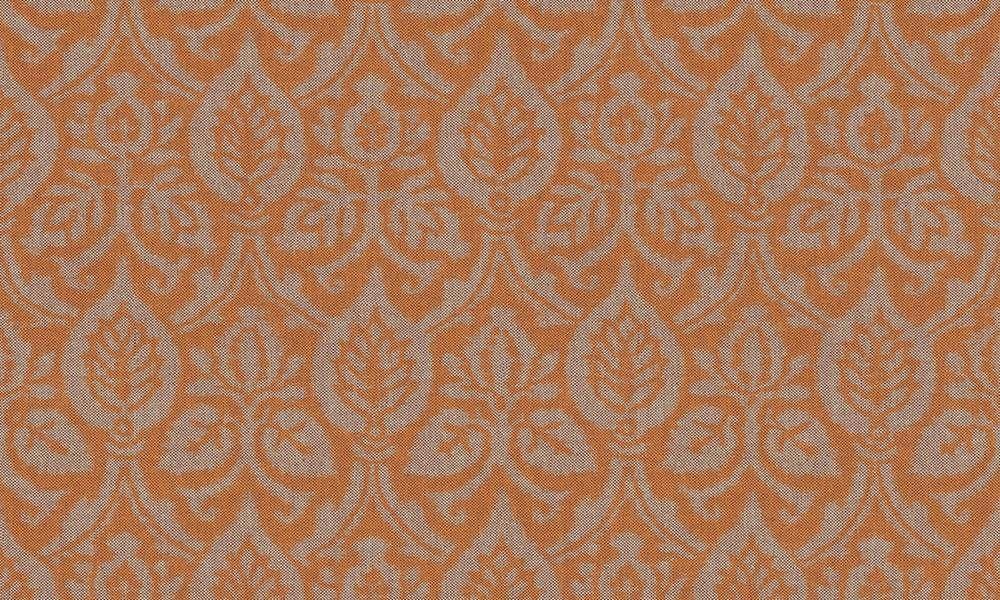 Papel pintado para parades en color naranja teja