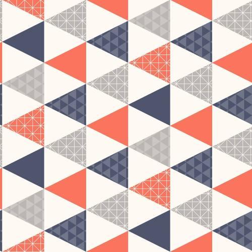 papel para paredes juvenil con triángulos de colores