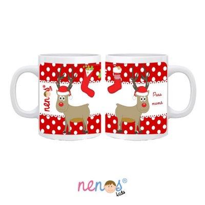 Taza Personalizada de Navidad Rudolf