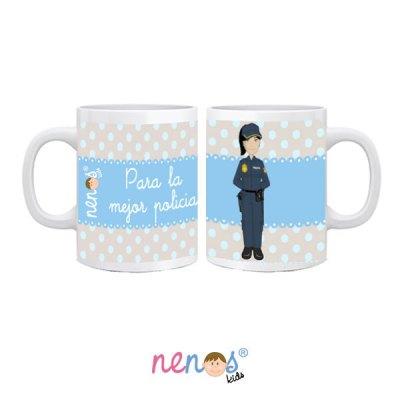 Taza personalizada Mujer Policia