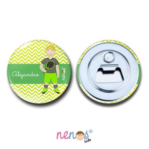Imán Abrebotellas Personalizado Tenista