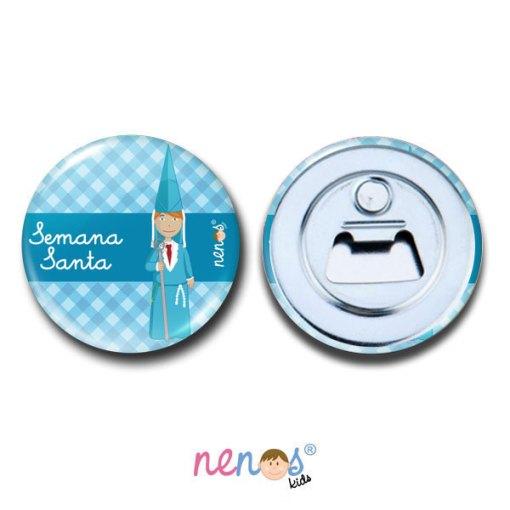 Imán Abrebotellas Personalizado Nazarena Azul 2