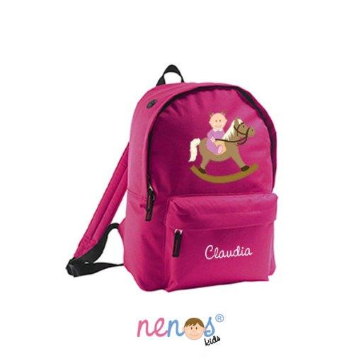 Mochila escolar personalizada Bebé Caballito Niña